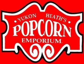 Yukon Heath's Popcorn Emporium Logo