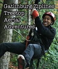 Gatlinburg Ziplines Treetops Aerial Adventure Logo